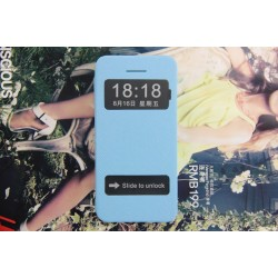 Husa protectie Flip Cover Smart View With Double Windows pentru IPhone 5C
